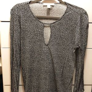 Michael Kors long sleeve patterned shirt